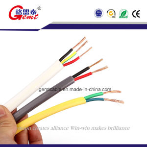 2*2.5white Twin Flat Cable Pure Copper Wire pictures & photos