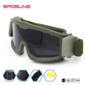 Bulletproof Impact Resistance Tactical Military Goggles Sport Glasses pictures & photos