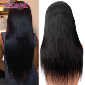 Natural Straight Brazilian Virgin Human Hair Wig Full Lace Wig pictures & photos