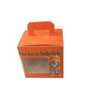 Custom Printed Packaging Carrier Boxes with PVC Window pictures & photos