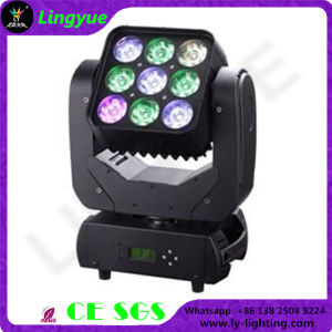 9PCS 10W Mini LED Moving Head Lighting Stage Equipment pictures & photos
