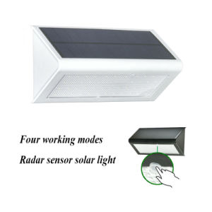 Upgraded 4 in 1 Solar Microwave Radar Sensor Light 800lm 48 LED Wireless Security Outdoor Garden Lamp Light pictures & photos