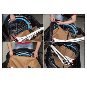Black Outdoor Soft Cases Bike Carrying Folding Bicycle Transportation Bag pictures & photos