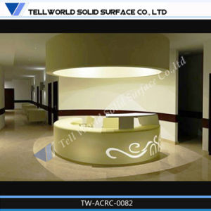 Acrylic LED Light Hotel Reception Desk Tw-Acra-0031 pictures & photos