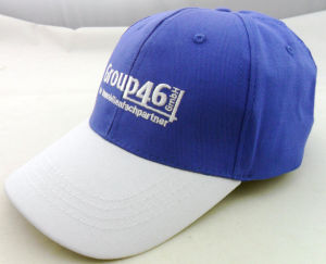 High Quality Blue and White Polyester Softball Hats Custom pictures & photos