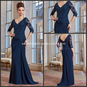 V-Neckline A-Line Navy Blue Mother of The Bride Formal Dresses M71020 pictures & photos