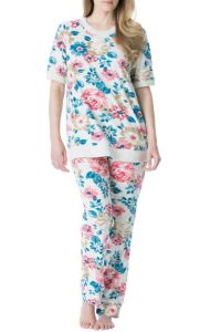 Flower Long Sleeve Jogging Lady Pajamas Fw-218 pictures & photos