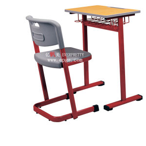 Classroom Student Desk and Chair/Plastic Student Chair/Wooden Student Table pictures & photos