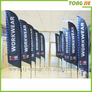 Feather Flag Advertising Polyester Flying Beach Banner Flag (TJ-05) pictures & photos