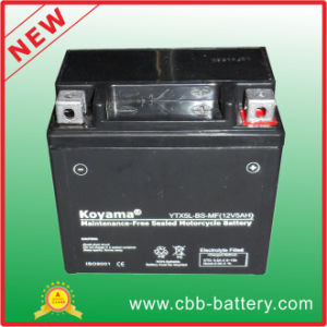 12V5ah Ytx5l-BS-Mf Maintenance-Free Motorcycle Battery pictures & photos