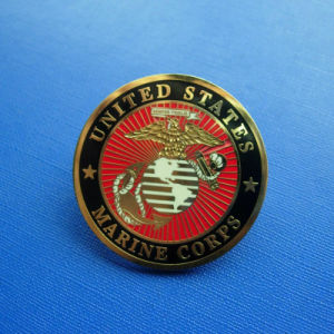 USA Marine Corps Badges, Metal Gold Lapel Pin (GZHY-LP-027) pictures & photos