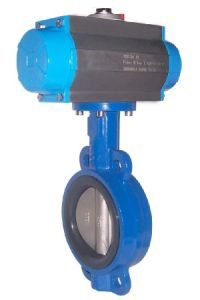 Pneumatic Actuator Operated Wafer Type Butterfly Valve pictures & photos
