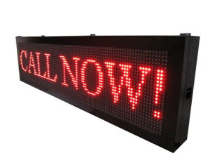 P10 Red Color Semi-Outdoor LED Moving Sign for Message Display pictures & photos