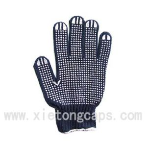 Working Glove with One Side PVC Printing (JRJ049) pictures & photos