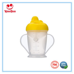 180ml Healthy Plastic Baby Drinking Cup with Handles pictures & photos