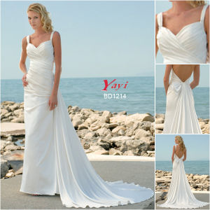 Bridal Wedding Dress, Beach Wedding Dress (BD1214)