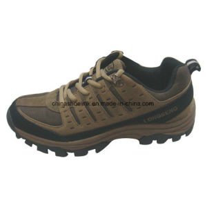 New Men Hiking Shoes Trekking Shoes Cow Suede Leather pictures & photos