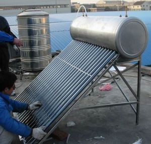 Copper Coil Solar Water Heater (pre-heating solar water heater) pictures & photos