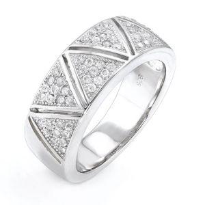 Fashion 925 Silver CZ Ring/Mirco Pave Setting CZ Ring