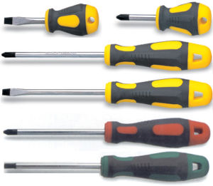 Slotted and Phillps Soft Handle′s Screwdriver (MF0118-A) pictures & photos