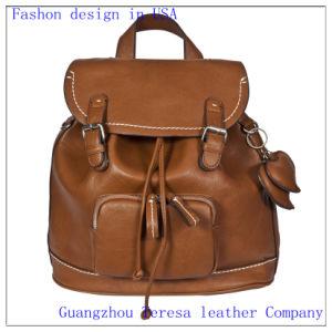 Lady′s Leather PU Travel School Backpack (Nmdk-8815)