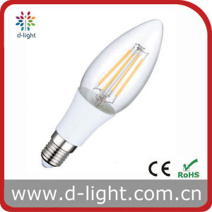 4W E14 Plastic Candle LED Filament Bulb Lamp pictures & photos