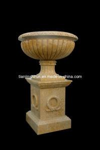 Marble Urn Vase on Base, Flowerpot (VS344) pictures & photos