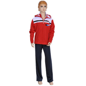 Custom Girl′s Sport School Uniform Tracksuits pictures & photos