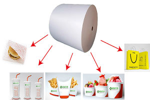 PE Coated Paper Used for Kinds of Cups, Chips Bags, Icecream Bowl pictures & photos