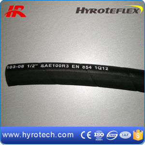 Flexible Ruuber Hose/Hydraulic Hose SAE100r3 Two Textile Braids Hose pictures & photos