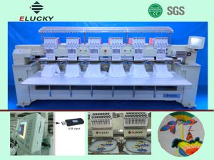 Elucky Computerized Embroidery Machine with 6 Heads and 12needles