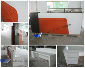 Customized Luxury Office Front Desk Acrylic Reception Counter Design pictures & photos
