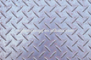 Hot Rolled Q235B Ms Checkered Steel Plate/Diamond Steel Plate pictures & photos