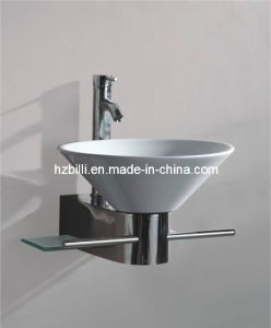 Ceramic Basin Wall Mounted Bathroom Vanity
