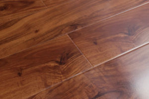 1215X166X12mm Flat Laminated Wooden Flooring with Crystal Surface--Ly212 pictures & photos