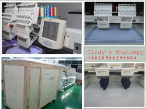 2 Head Computerized Embroidery Machine Do Cap Tshirt Flat pictures & photos