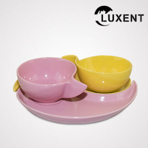 High Quality Restaurant Ceramic Sharp-Angled Cup and Saucer pictures & photos