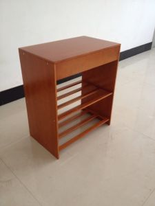 Espresso Finish 3-Tier Chair Side End Table with Shelf pictures & photos