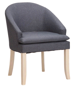 Dark Blue Accent Chair with Wood Frame