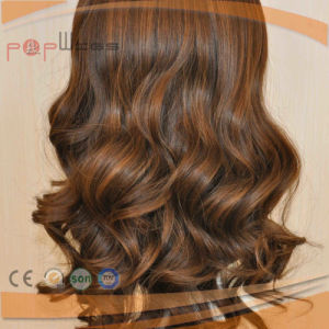 100% Human Remy Hair Blond Mixed Brown Top Selling Women Wig pictures & photos