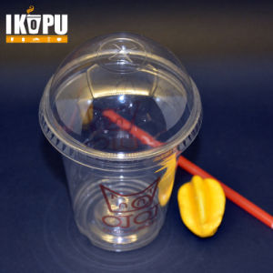 Disposable Clear Pet Plastic Cups with Flat Lid Dome Lid pictures & photos