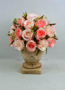 New Design Nice Artificial Rose Bouquet Flower in Urn pictures & photos