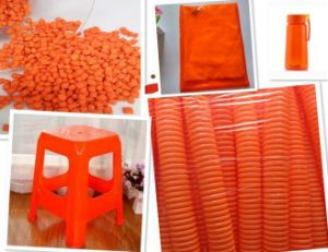China Hot Sale Orange Color Masterbatch for Plastic Products pictures & photos