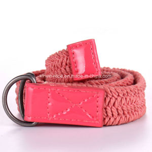Polyester Customize Braided Woven Double-Ring Buckle Webbing Belt for Adult pictures & photos
