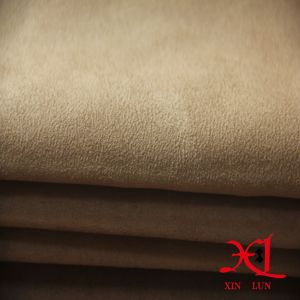 100% Polyester One Side Suede Fabric for Garment/Shoes pictures & photos