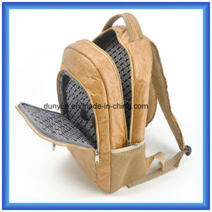 Popular Young Design Factory OEM New Material DuPont Paper Backpack Bag, Waterproof Tyvek Paper Double Shoulder Bag with Adjustable Belt pictures & photos