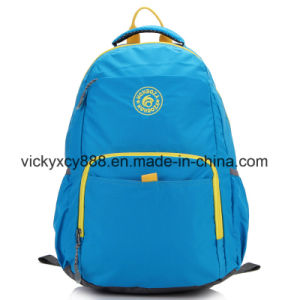 Waterproof Nylon Double Shoulder Sports Shopping Travel Backpack Bag (CY3706) pictures & photos