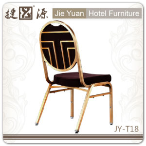 Brown Stackable Steel Banquet Dining Chair (JY-T18) pictures & photos