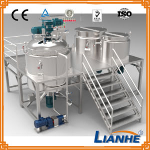 Vacuum Emulsifying Mixing Tank with Homogenizer pictures & photos