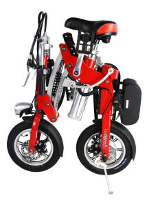 "Wholesale Portable 12"" 2 Wheels Electric Folding Bike pictures & photos"